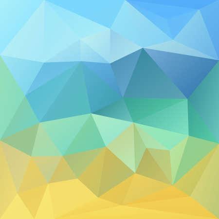 Polygonaler Mosaikhintergrund in den blauen und gelben Farben. Wird für kreative Designvorlagen verwendet