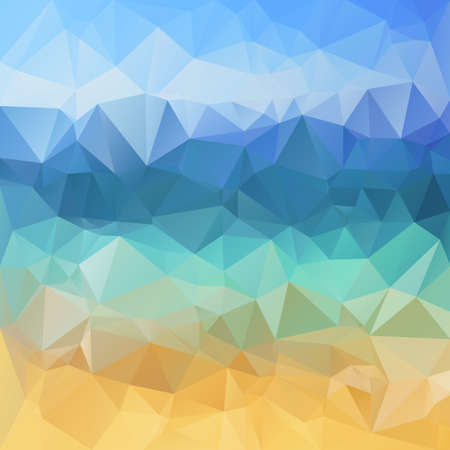 bluer: Polygonal mosaic background in blue and yellow colors. Used for creative design templates