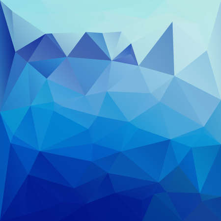 ultramarine: Polygonal mosaic background in blue and ultramarine colors. Used for creative design templates