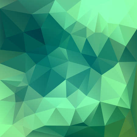 Polygonal mosaic background in green and blue colors. Used for creative design templates Illustration