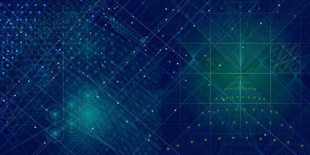 geometra: símbolos de geometría sagrada y elementos de fondo. Cósmico, universo, bing bang, la alquimia, la religión, la filosofía, la astrología, la ciencia, la física, la química y los temas de espiritualidad