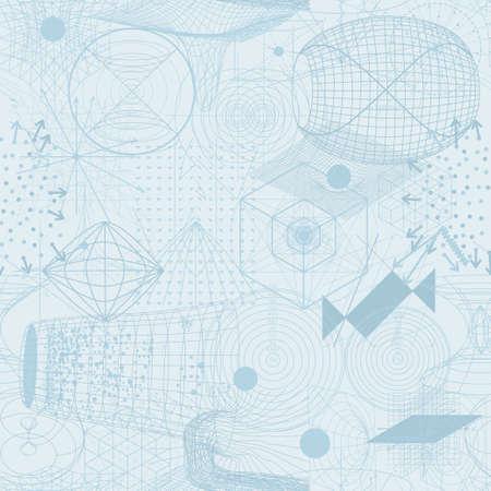 Heilige geometrie symbolen en elementen behang naadloos patroon. Textiel design, abstracte textuur, oppervlakte patroon. Alchemy, religie, filosofie, astrologie en spiritualiteit thema's