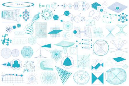 Scienza. Grande collezione di elementi, simboli e schemi di fisica, chimica e geometria sacra