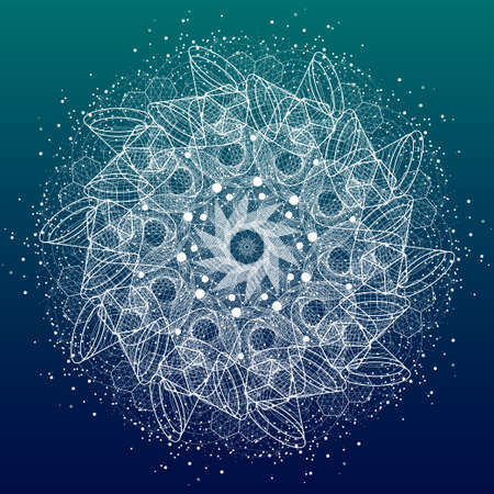 Sacred geometry symbols and elements mandala. Alchemy, religion, philosophy, astrology and spirituality themes Ilustracja