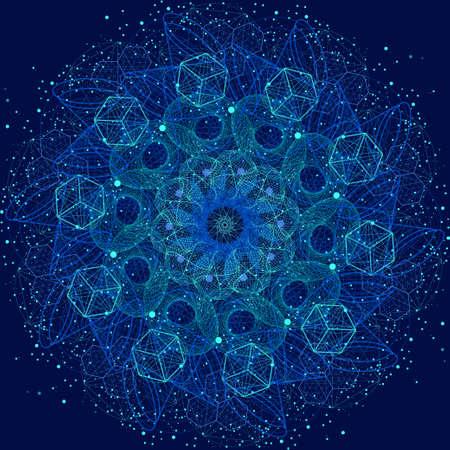 Heilige Geometrie kosmische Mandala. Alchemie, Religion, Philosophie, Astrologie und Spiritualität Themen