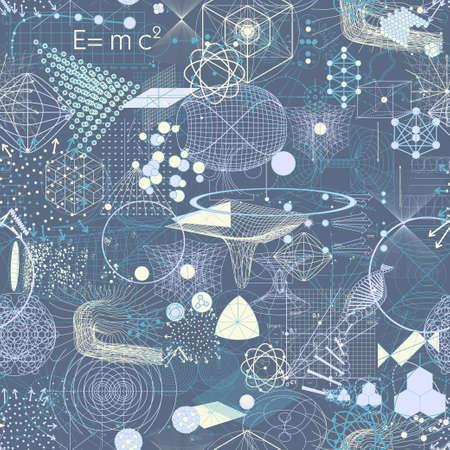 geometría: símbolos y elementos de geometría sagrada patrón de papel tapiz sin fisuras.