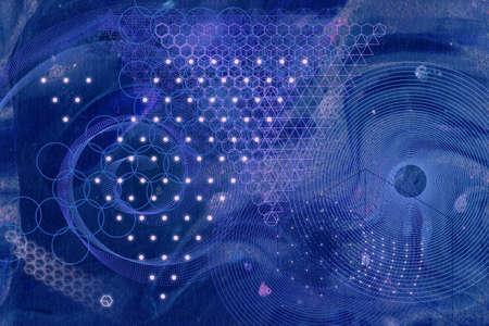 nombre d or: symboles de la géométrie sacrée et les éléments de fond. Alchemy, la religion, la philosophie, l'astrologie et spiritualité thèmes. La matière, l'espace et le temps. Science in Universe. Nombre d'or.