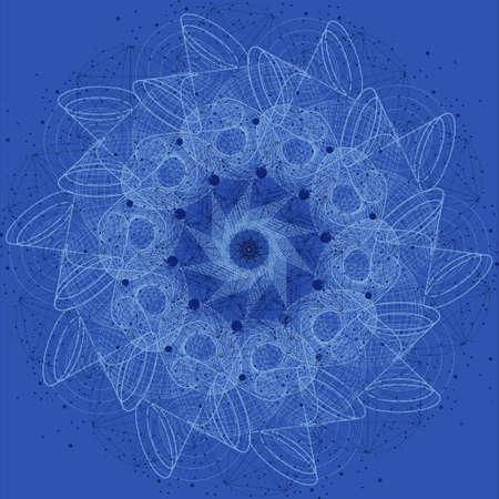 spiritual meditation creation: Sacred geometry cosmic mandala. Alchemy, religion, philosophy, astrology and spirituality themes Stock Photo