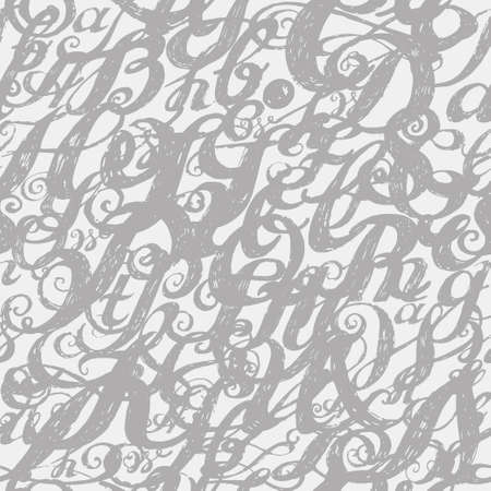 alphabet wallpaper: Wallpaper seamless pattern. Calligraphy alphabet typeset lettering. Large Letters. Hand drawn construction sketch of ABC letters in old fashion vintage style.