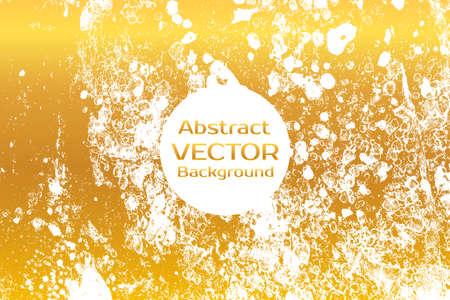 黄金の抽象には、大理石の図が描かれています。水彩のスポットの背景。ベクター アートをブラシ スプラッシュ。紙の霜降り模様を持つベクター。白とゴールドの色。 写真素材 - 59842369