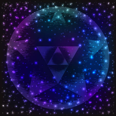the big bang: Sacred geometry symbol. Mandala mystery element. Used for space, universe, big bang, alchemy, religion, philosophy, astrology, science, physics, chemistry and spirituality themes. Illustration