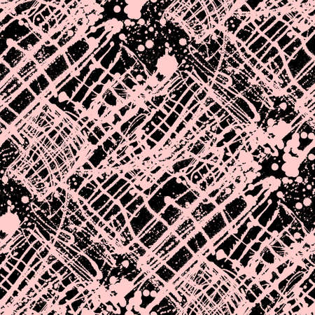 sprayed: Splattered with dots seamless wallpaper pattern. Hand-drawn sprayed blots painted illustration. Artistic design of ink splashes on the surface. Creative backdrop elements for textile. Grunge texture. Illustration