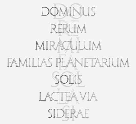 re do: Music. The sacred meaning of musical notes. DO - God, RE - Matter, MI - Miracle, FA - Solar System, SOL - Sun, LA - Milky way, SI - Heaven. Roman Classic Alphabet. Illustration