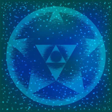 Sacred geometry symbol. Mandala mystery element. Used for space, universe, big bang, alchemy, religion, philosophy, astrology, science, physics, chemistry and spirituality themes. Stock Photo