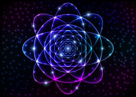 spiritual meditation creation: Sacred geometry symbol. Mandala mystery element. Background for space, universe, big bang, alchemy, religion, philosophy, astrology, science, physics, chemistry and spirituality themes. Stock Photo
