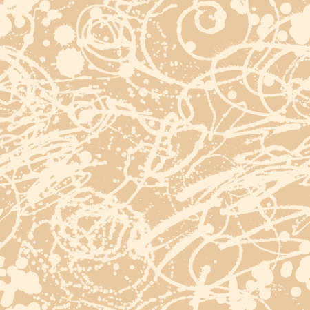 Splattered with dots seamless wallpaper pattern. Hand-drawn sprayed blots painted illustration. Artistic design of ink splashes on the surface. Creative backdrop elements for textile. Grunge texture. Stok Fotoğraf