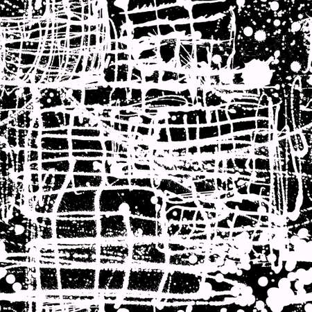 splattered: Splattered with dots seamless wallpaper pattern. Hand-drawn sprayed blots painted illustration. Artistic design of ink splashes on the surface. Creative backdrop elements for textile. Grunge texture. Stock Photo
