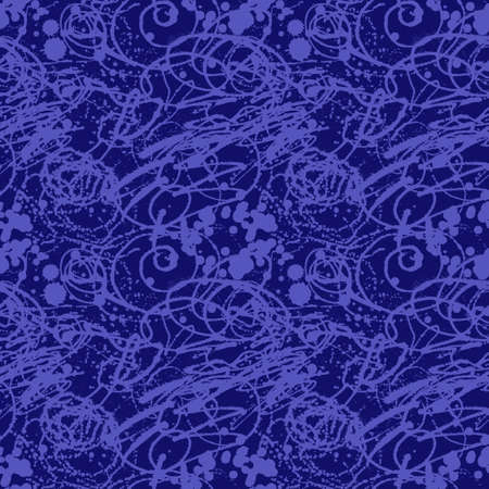 sprayed: Splattered with dots seamless wallpaper pattern. Hand-drawn sprayed blots painted illustration. Artistic design of ink splashes on the surface. Creative backdrop elements for textile. Grunge texture. Stock Photo