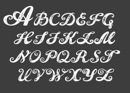 Letter J Calligraphy Alphabet Typeset Lettering Hand Drawn