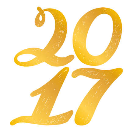 2017 numbers for quote lettering. Happy New Year. Decorative Trended Alphabet. Display font and numbers. Hand drawn letters in old fashion vintage style.