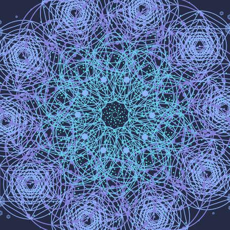 golden ratio: Sacred geometry cosmic mandala. Alchemy, religion, philosophy, astrology and spirituality themes.