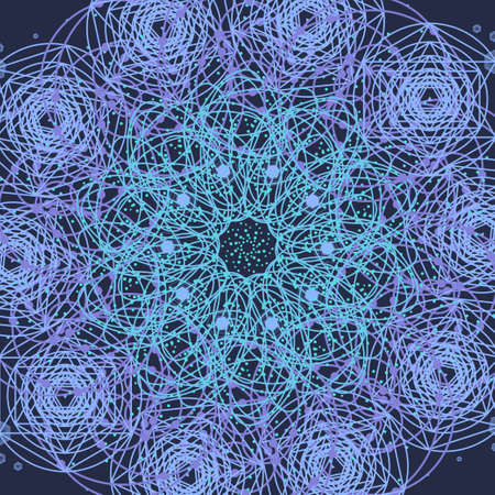 Sacred geometry cosmic mandala. Alchemy, religion, philosophy, astrology and spirituality themes.