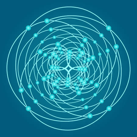 Sacred geometry symbols and elements background. Alchemy religion philosophy astrology and spirituality themes. Matter space and time. Science in Universe. Golden ratio.