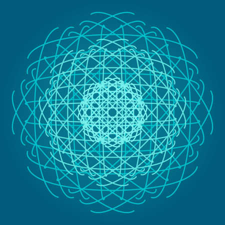 golden ratio: Sacred geometry symbols and elements background. Cosmic, universe, big bang, alchemy, religion, philosophy, astrology, science, physics, chemistry and spirituality themes. Matter, space, time. Illustration