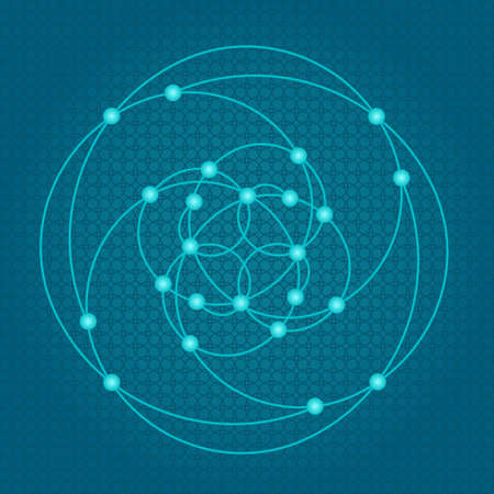 Sacred geometry symbols and elements background. Alchemy religion philosophy astrology and spirituality themes. Matter space and time. Science in Universe. Golden ratio. Stock Vector - 69000107