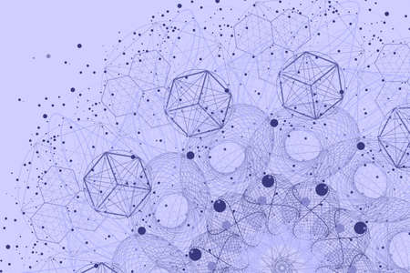The science and mathematics abstract background with circles, cube, triangles and a lot of lines. Sacred geometry backdrop. The chemistry and astrology. Graphic elements for identity design.