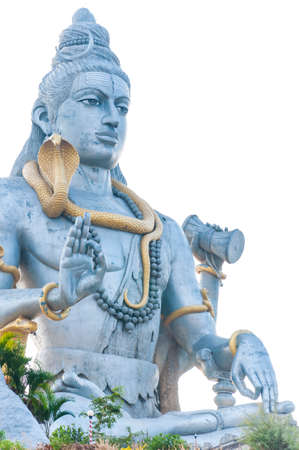 Murudeshwar, Karnataka, India: The statue of great Lord Shiva in Murudeshwar Temple.