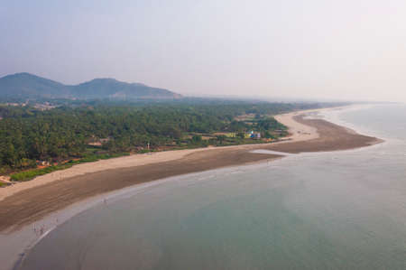 You can see here the emerald jungles, endless sand beach and beautiful Arabian sea. Stock Photo