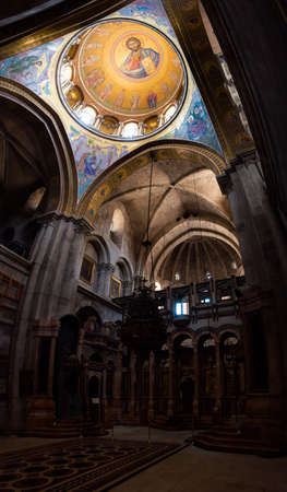 Jerusalem, Israel - May 25, 2012: The Church of the Holy Sepulchre, also called the Church of the Resurrection is one of the most sacred locations in the Christian world