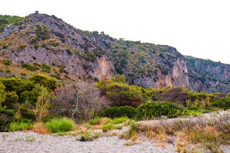 Rocky mountains landscape of Cilento Vallo di Diano and Alburni National park in province of Salerno in Campania region in Italy