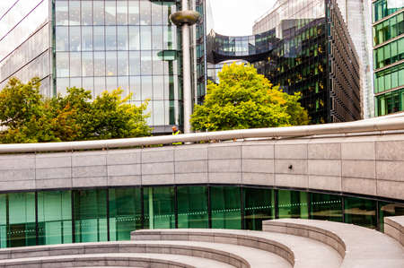 London, United Kingdom - September 14, 2017: Bent underground architecture of the City Hall complex in London