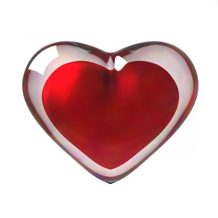 radiosity: 3D Red Heart