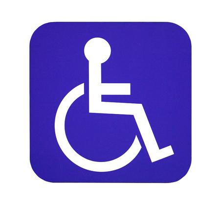 handicap sign: Handicap sign