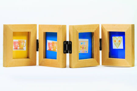 Wooden photo frame for 4 pictures photo