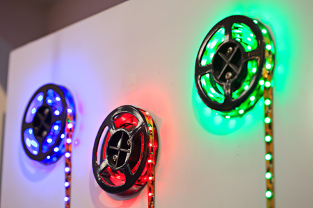 leds: LED strip with red, green and blue LEDs.