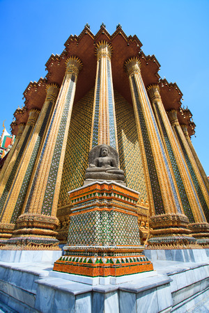Beatiful Buddhist statue in Thai temple