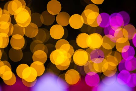 glittery: Abstract circular bokeh background of Christmas light