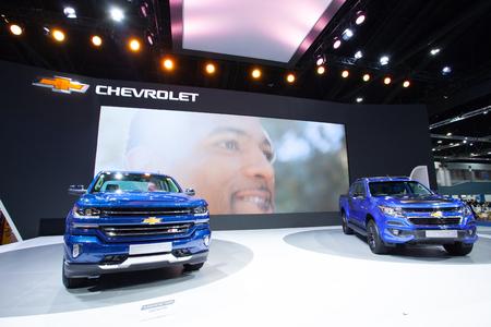 the world expo: Impact Muangtong Thani,Thailand 29Mar-9April 38th Thailand Motorshow Blue Chevrolet Colorado