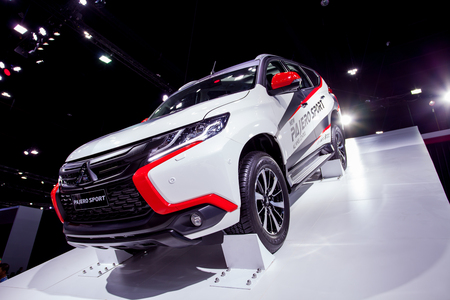 Impact Muangtong Thani,Thailand 29Mar-9April 38th Thailand Motorshow New Mitsubishi Pajero Sport show on stage Editorial