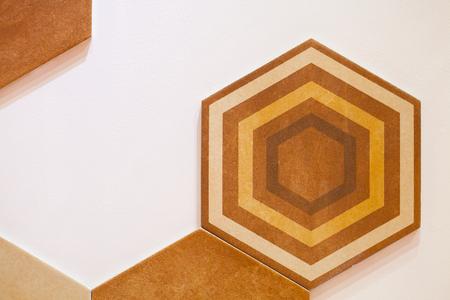 Disegno esagonale astratto del mosaico del fondo del mosaico