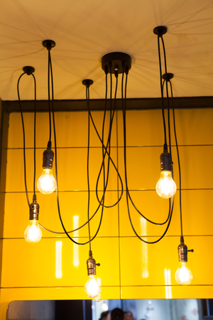 edison: Incandescent lamps  Edison lamp. Stock Photo
