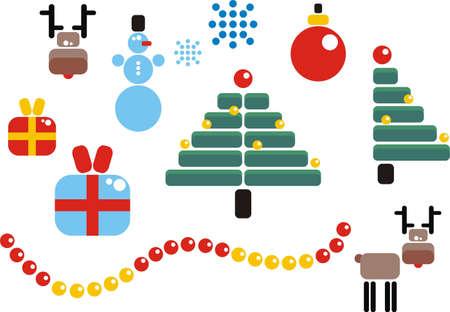 Christmas set. Vector illustration. Stock Vector - 11663093