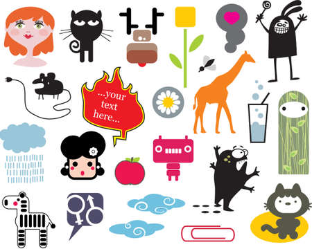 Mix of different vector images. vol.2 Vector