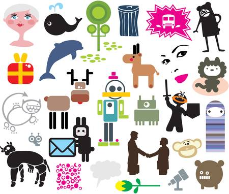 Mix of different vector images. vol.4 Vector