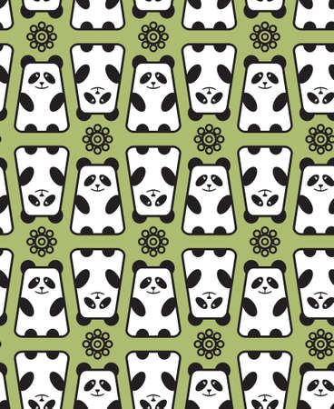 manga: Panda pattern. Vector Illustration. Illustration