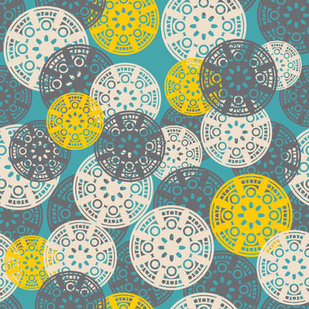 floral fabric: Circles pattern.